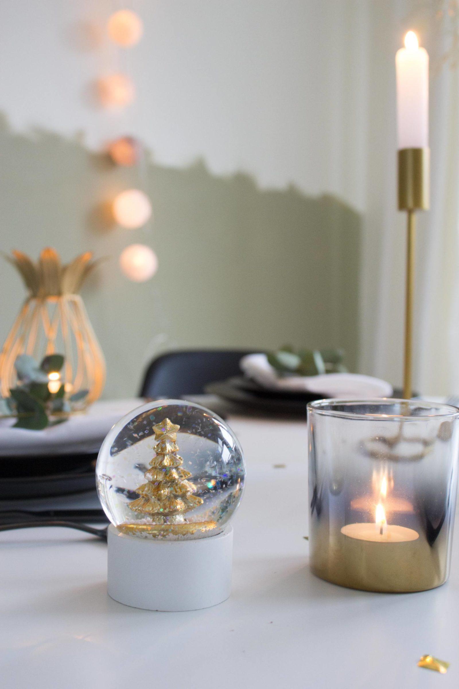 kersttafel gouden accessoires