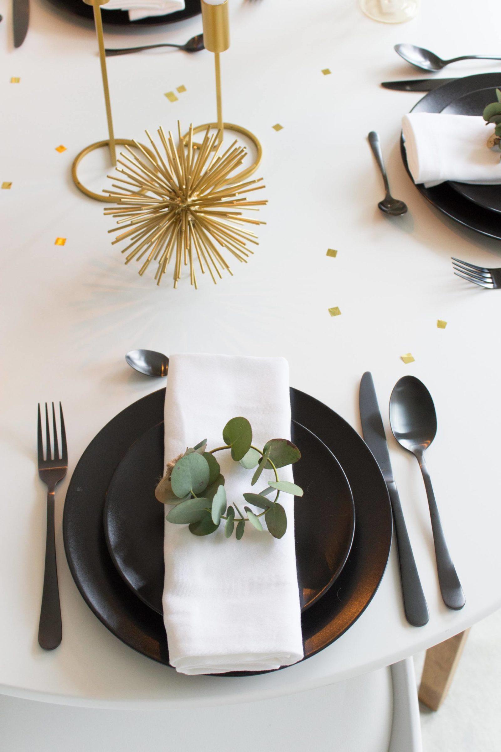 Kersttafel servies