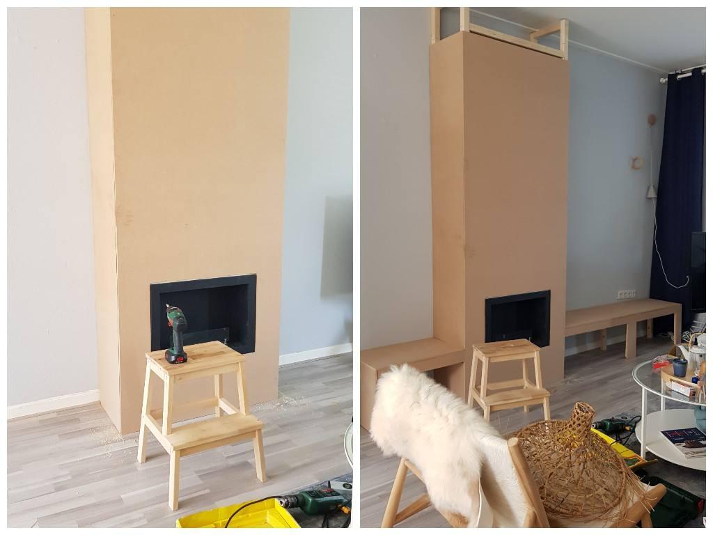Uitgelezene DIY: schouw maken - Juudithhome- interieur & styling EU-78