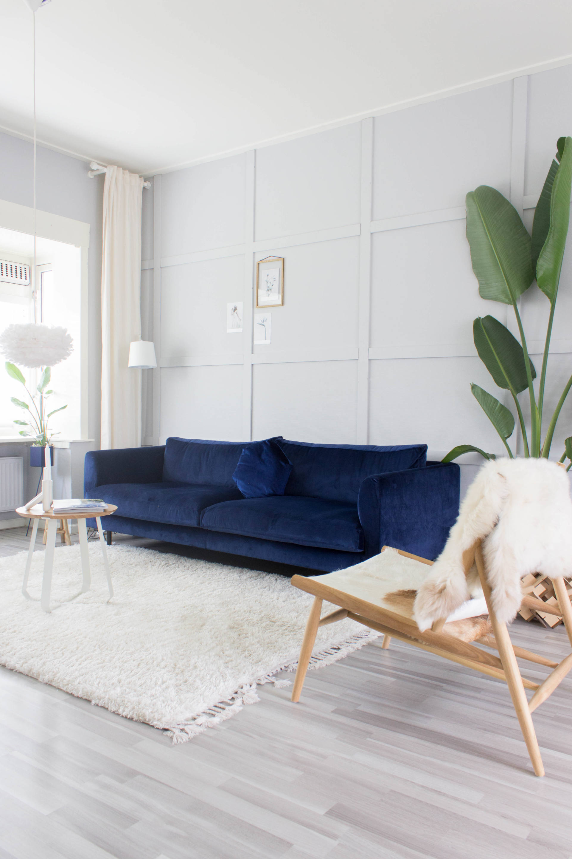 Blauwe Design Bank.Kussens Met Een Blauwe Bank Juudithhome Interieur Styling